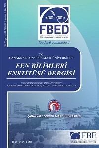 Çanakkale Onsekiz Mart University Journal of Graduate School of Natural and Applied Sciences