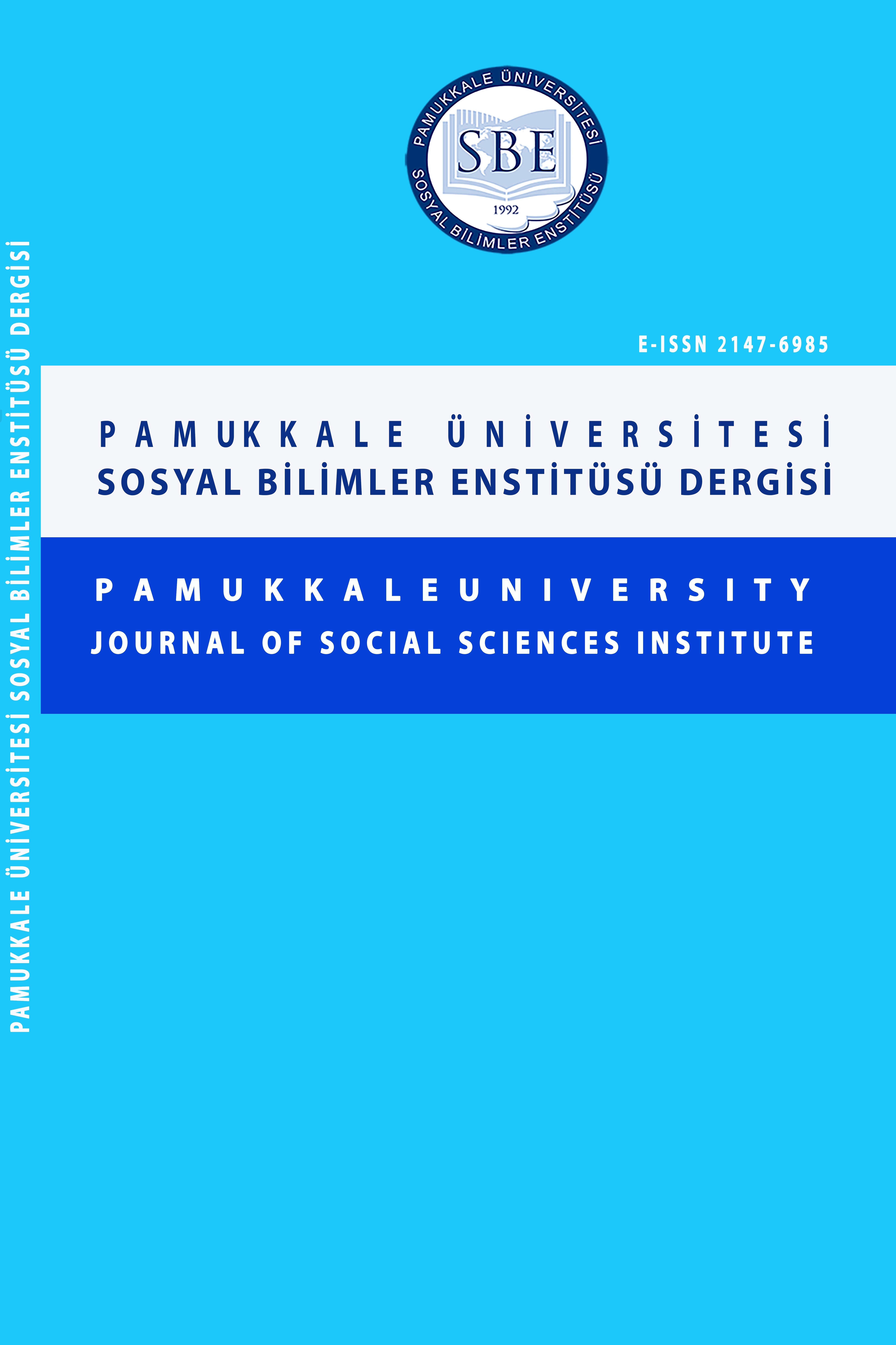 Pamukkale University Journal of Social Sciences Institute